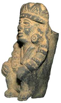 Replica of an Aztec statue