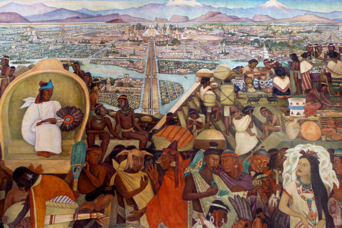 Diego Rivera Mural - Aztec Marketplace