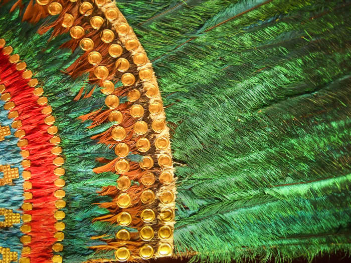 Aztec Feathered Headdress Detail