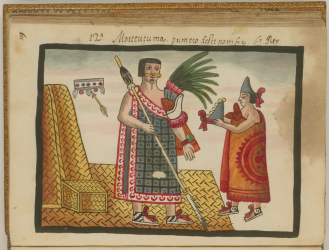 Depiction of the Coronation of Montezuma I