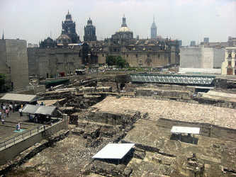 Ruins of the old city of Tenochtitlan